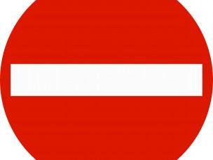 Innkjøring forbudt.