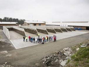 Plansiloene på Ås gård under åpningen i mai 2016