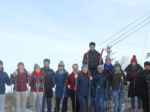 MSc students in sustainable water and sanitation on ski trip.