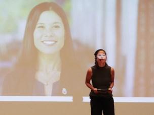 Oslo-byråd Lan Marie Nguyen Berg ønsket velkommen til årets POLLEN-konferanse foran et fullsatt auditorium med noen av de fremste internasjonale forskerne innen politisk økologi.