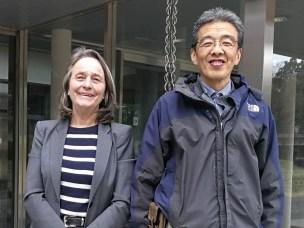Prof. Brit Salbu and Prof. Yuichi  Onda, Tsukuba University