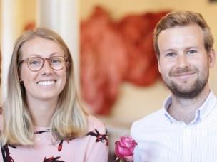 Åse Grøttå og Julian Skytterholm var to av de rundt 130 studentene som presenterte sin gradsoppgave ved Fakultet for landskap og samfunn den 19. juni.