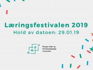 Velkommen til Læringsfestivalen 2019. Hold av datoen 29 januar!