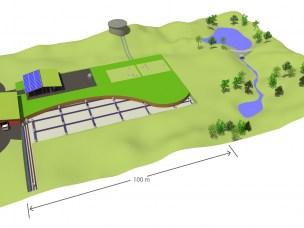 Prinsippskisse infrastruktur- og arealbehov Nasjonalt senter for ledningsteknologi.