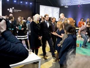 SHINE-prosjektet var representert ved Anise Gold-Watts, Tina Paasche, Lise Hovden og Sheri Lee Bastien. De opplevde møtet med kronprinsparet som svært vellykket.