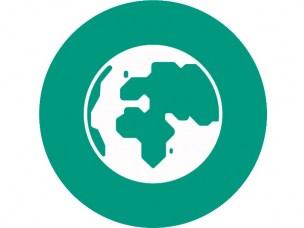 Miljøsymbol jordkloden