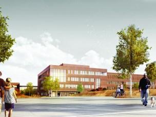 Samlokaliseringsprosjektet SLP fasade mot øst Uraksen illustrasjon