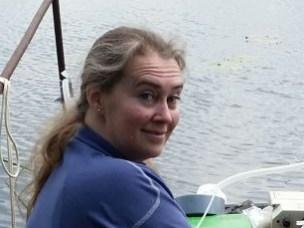 Prøvetaking ved Lake Globoka utført av  Professor Lindis Skipperud.
