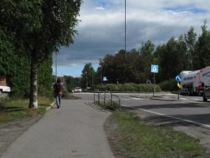 Ombygging av Meierikrysset fra høsten 2014. Blant annet flyttes rundkjøringen lenger mot høyre for å skape bedre plass ved Meierimuseet.