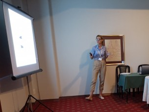 Selma Hurem presenting at 6th International Conference on Radiation and Applications in various fields of research