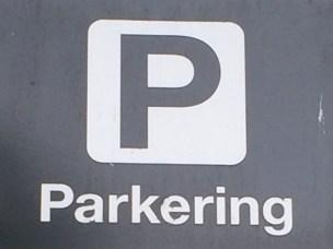 Parkeringsskilt.