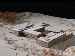 SLP-bygningen. Modell.