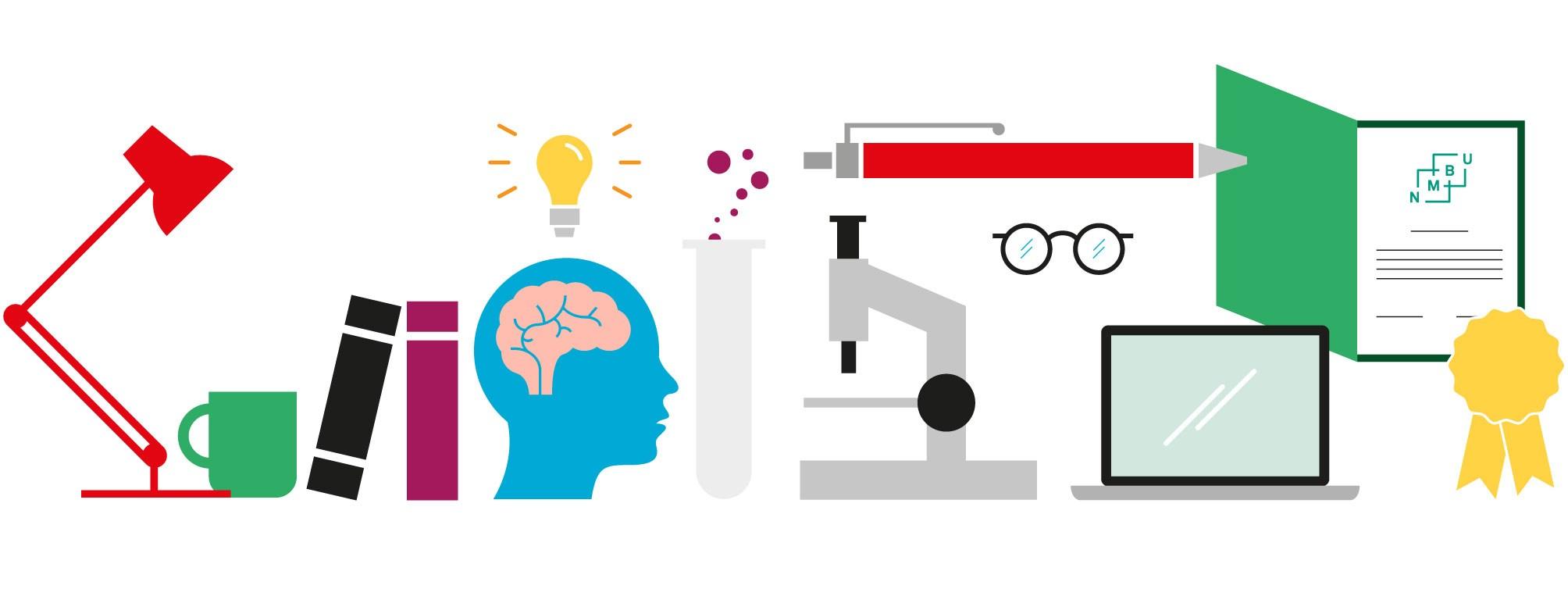 Illustrasjon fremragende forskning og utdanning