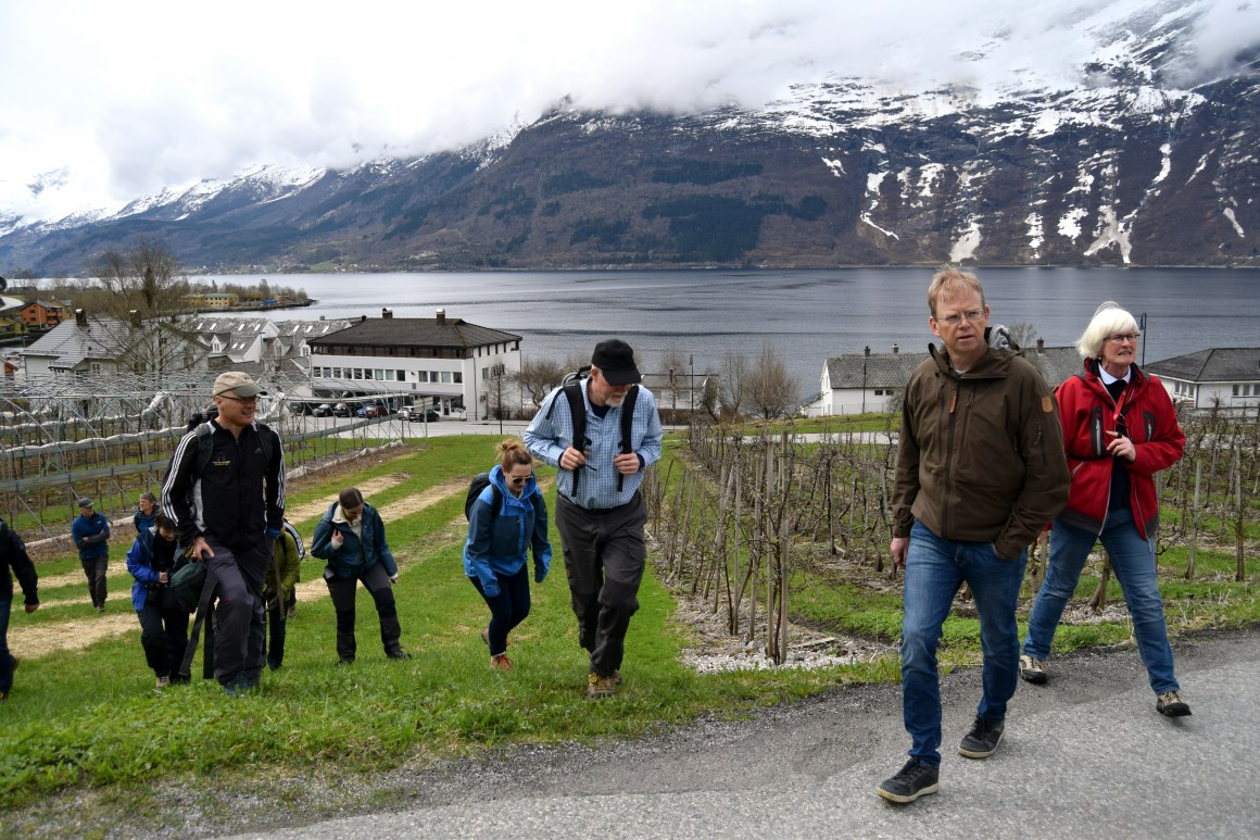BIOTOUR-forskarane besøkte i april Hardanger, eit av caseområda i forskingsprosjektet.