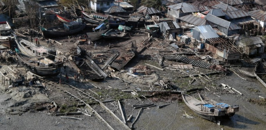 Damage caused by Cyclone Sidr in Bangladesh