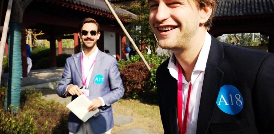 Axel Zeiner og Mathias Elvestad vant bronsje og sølv for sine prosjekter Avox og Aquafit under China College Students' Entrepreneurship Competition (CCESC).
