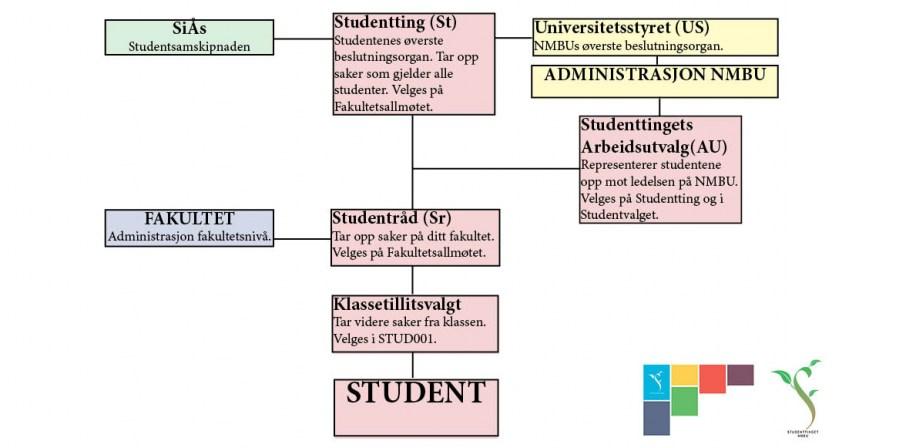 Organisasjonskart studentdemokratiet NMBU