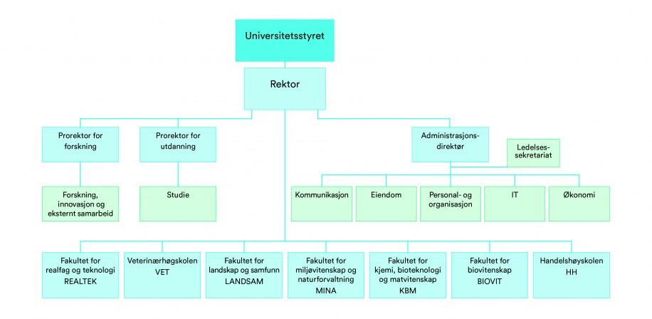 Organisasjonskart NMBU