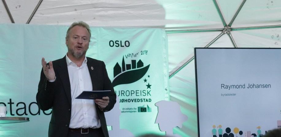 - Markeringen skal understreke det grønne skiftet og være en investering i fremtiden, som vil sette dype, varige spor, sa byrådsleder Raymond Johansen under lanseringen av det foreløpige programmet for Oslo som miljøhovedstad i 2019.