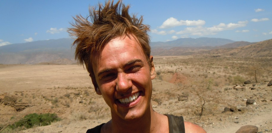 Noragric BSc student Markus Brun Hustad on fieldwork in Engaruka, Tanzania.
